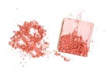 Zerstreutes empfindliches Rosa bilden Farbgesicht in einem Kastenisolat Stockfotos