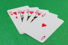 Zerstreutes Kartenstapeles Stockbilder