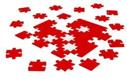 Zerstreutes Puzzle Lizenzfreie Stockfotos