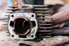 Zerteilt Zylinder für Motorradmaschine lizenzfreies stockbild