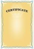 Zertifikat Lizenzfreie Stockfotografie