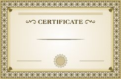 Zertifikat stock abbildung