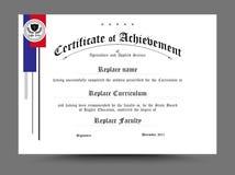 Zertifikat des archievement Schablonendesigns Auch im corel abgehobenen Betrag Stockfotografie