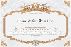 Zertifikat-Design-Schablone Lizenzfreie Stockfotos