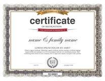 Zertifikat-Design-Schablone Lizenzfreie Stockfotografie