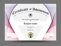 Zertifikat, Diplom der Fertigstellung, Zertifikat von Leistung d Stockfotografie