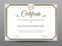 Zertifikat, Diplom der Fertigstellung, Zertifikat von Leistung d Lizenzfreie Stockbilder