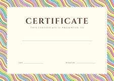 Zertifikat-/Diplomhintergrund (Schablone) Lizenzfreies Stockbild