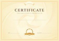 Zertifikat-/Diplomhintergrund (Schablone) Lizenzfreie Stockbilder