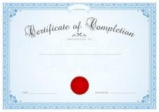 Zertifikat-/Diplomhintergrundschablone. Mit Blumen  Lizenzfreie Stockfotos