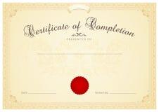 Zertifikat-/Diplomhintergrundschablone. Mit Blumen Stockbilder