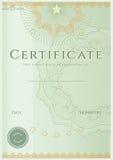 Zertifikat-/Diplomhintergrundschablone. Muster Lizenzfreie Stockfotos