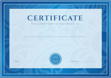 Zertifikat, Diplomschablone. Preismuster Lizenzfreie Stockfotos