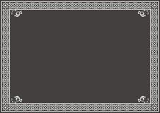Zertifikat-Grenze Stockfoto
