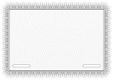 Zertifikat. Grey Vector-Musterdiplome Lizenzfreies Stockbild