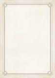 Zertifikat-Schmutzretro- Papierhintergrund der Größe A4 Stockfoto