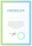 Zertifikat- und Diplomschablone Vektor Stockbild