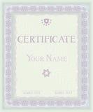 Zertifikat. Vektormusterdiplome stock abbildung