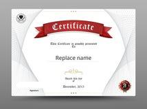 Zertifikatdiplomgrenze, Zertifikatschablone Stockfotos