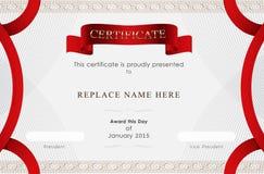 Zertifikatgrenze, Zertifikatschablone Auch im corel abgehobenen Betrag Stockbilder