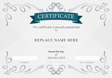 Zertifikatgrenze, Zertifikatschablone Auch im corel abgehobenen Betrag Lizenzfreies Stockfoto