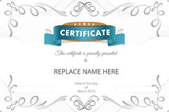 Zertifikatgrenze, Zertifikatschablone Auch im corel abgehobenen Betrag Stockbild