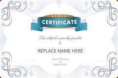 Zertifikatgrenze, Zertifikatschablone Auch im corel abgehobenen Betrag Lizenzfreie Stockbilder