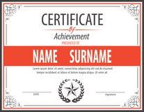 Zertifikatschablone, Diplom, Buchstabegröße stock abbildung