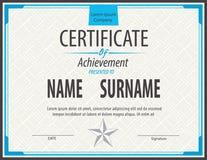 Zertifikatschablone, Diplom, Buchstabegröße vektor abbildung