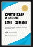 Zertifikatschablone, Diplom, Buchstabegröße, vektor abbildung