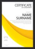 Zertifikatschablone, Diplomplan Lizenzfreie Stockbilder