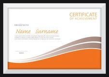 Zertifikatschablone, Diplomplan Stockfoto
