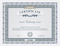 Zertifikatschablone und -element Lizenzfreie Stockbilder