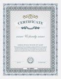 Zertifikatschablone und -element Stockfotos