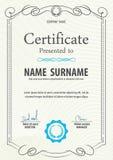 Zertifikatschablone, Vektorillustration stock abbildung