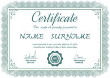 Zertifikatschablone, Vektorillustration lizenzfreie abbildung