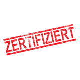 Zertifiziert Rubber Stamp Stock Images