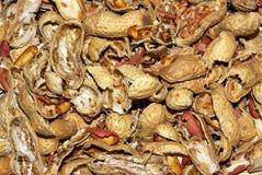 Zertrümmerte Erdnussshells stockbilder