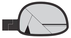 Zertrümmerter Chunky Car Side Mirror Stockbilder