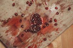 Zertrümmerter Granatapfel Stockfotografie