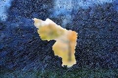 Zertrümmertes Auto-Fenster Lizenzfreies Stockbild