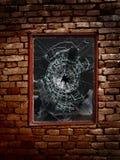 Zertrümmertes Fenster Stockbild