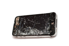 Zertrümmertes intelligentes Telefon Stockbild