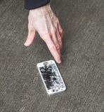 Zertrümmertes intelligentes Telefon Lizenzfreie Stockfotos