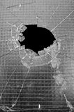 Zertrümmertes Fenster Stockfotos
