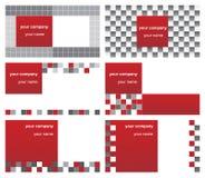 Zes adreskaartjes Vector Illustratie