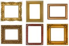 Zes Antieke Frames Royalty-vrije Stock Foto
