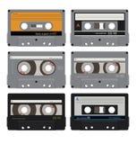 Zes audiocassettes 1 Stock Foto