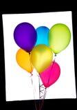 Zes ballons royalty-vrije stock afbeeldingen