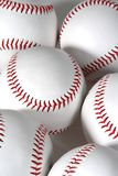 Zes baseballs Stock Foto